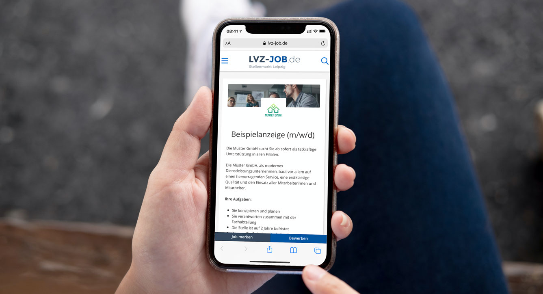 lvz-job.de Beispielstellenanzeige