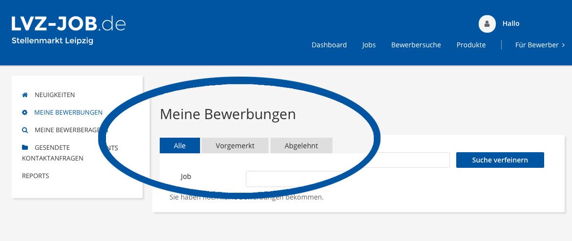 lvz-jobs.de  Bewerbungsmanagement
