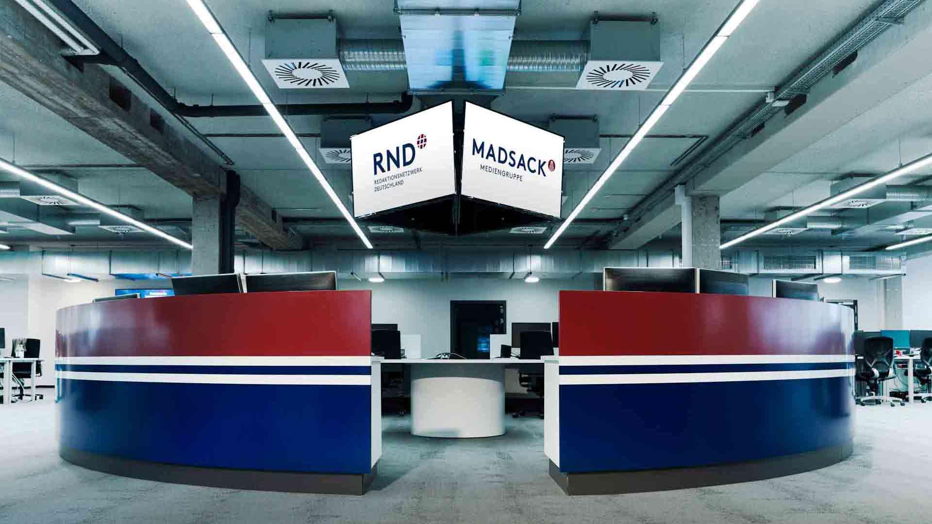 Der zentrale RND Newsroom