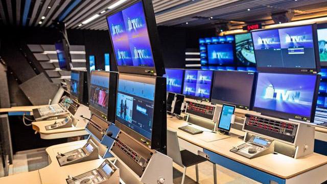 Ein Übertragungsraum von TVN